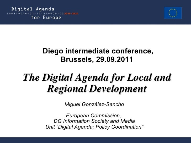"Miguel González-Sancho European Commission,  DG Information Society and Media Unit ""Digital Agenda: Policy Coordination"" T..."