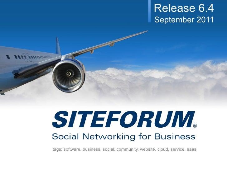 SITEFORUM Release 6.4