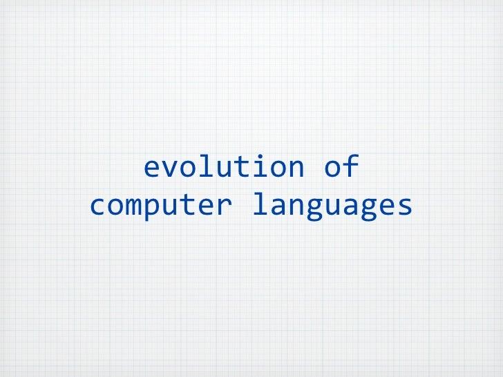 evolutionofcomputerlanguages