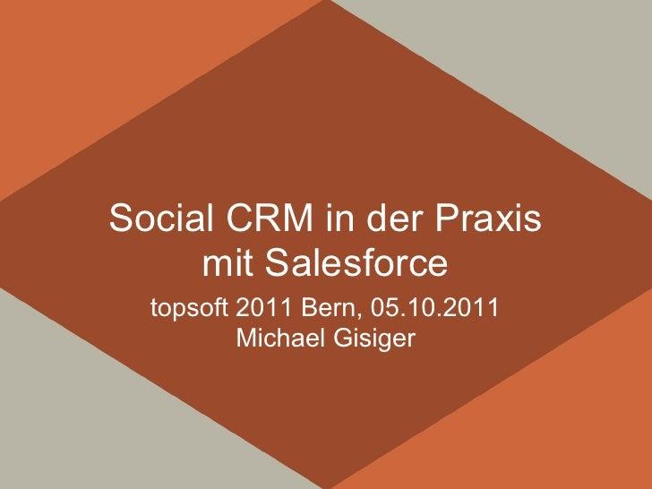 Social CRM in der Praxis     mit Salesforce  topsoft 2011 Bern, 05.10.2011          Michael Gisiger