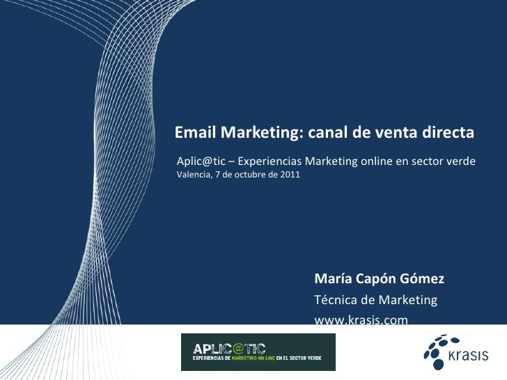 Email marketing como canal de venta directa y fidelización