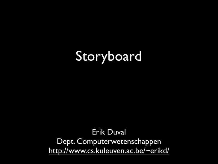 Multimedia: storyboard