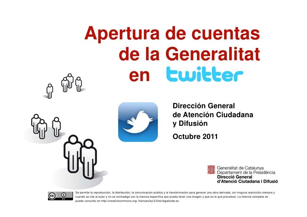 Apertura de cuentas             de la Generalitat               en                                                        ...