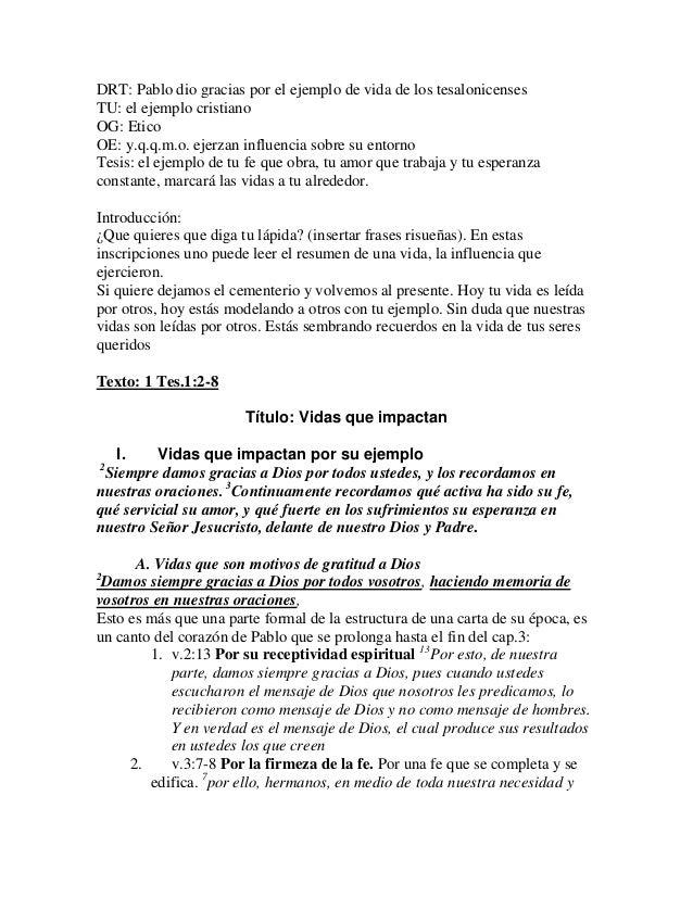 20111009   vidas que son ejemplo - bosquejo