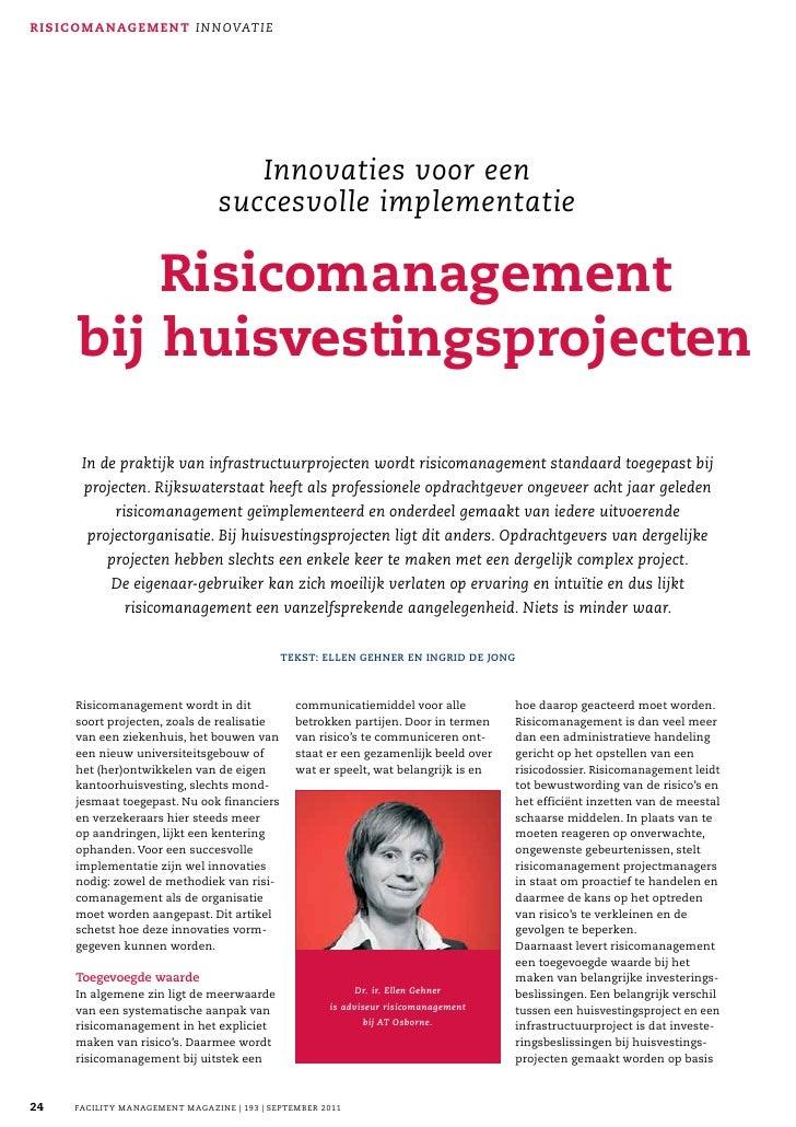 Risicomanagement Bij Huisvestingsprojecten