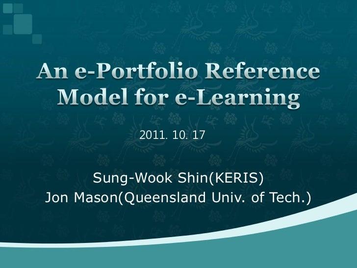 2011. 10. 17      Sung-Wook Shin(KERIS)Jon Mason(Queensland Univ. of Tech.)
