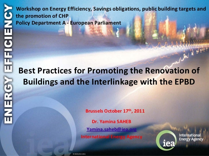 Best Practices for Promoting the Renovation of Buildings and the Interlinkage with the EPBD