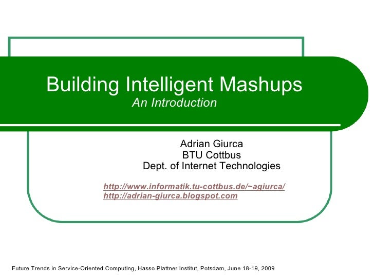 Building Intelligent Mashups