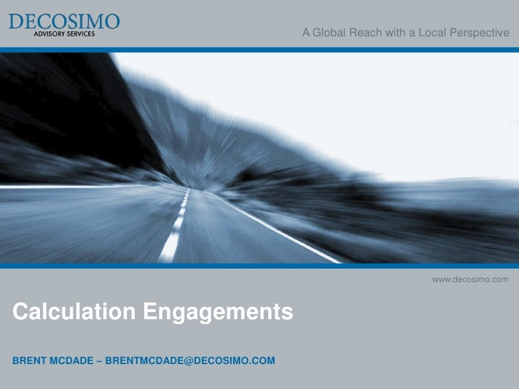 A Global Reach with a Local Perspective                                                                  www.decosimo.comC...
