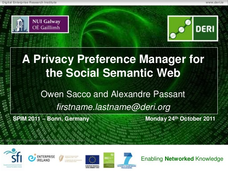 A Privacy Preference Manager for the Social Semantic Web