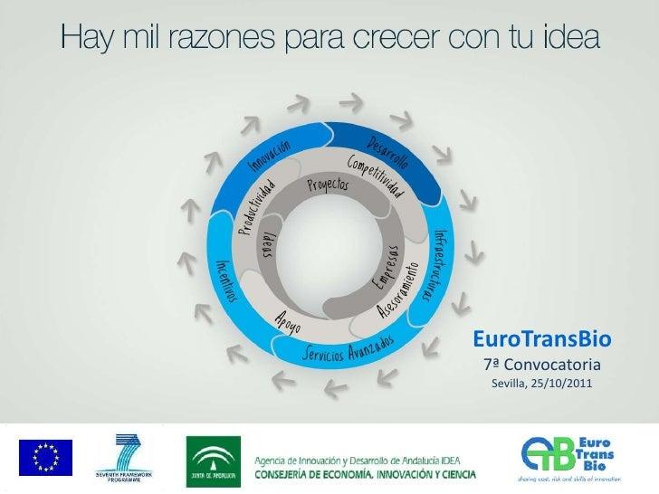 EuroTransBio7ª Convocatoria Sevilla, 25/10/2011