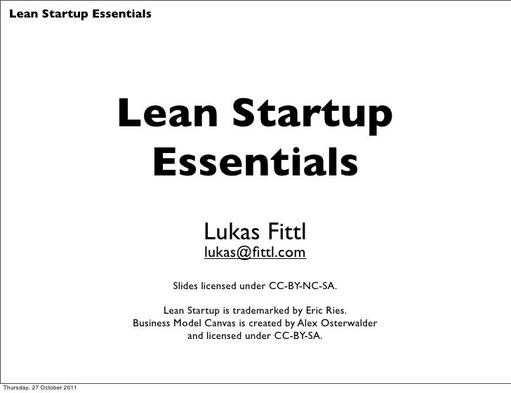 Lean Startup Essentials - Le Camping Edition