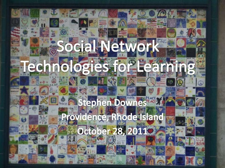 Overview:  •   The Major Social Networks  •   Anatomy of a Social Network  •   Social Networks in Learning  •   Platforms ...