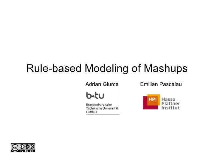 Rule-based Modeling of Mashups