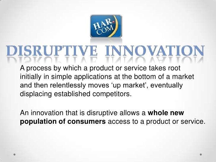 Disruptive Innovation - Bob Hale