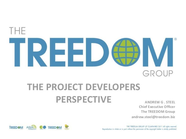 THE PROJECT DEVELOPERS      PERSPECTIVE          ANDREW G . STEEL                        Chief Executive Officer          ...