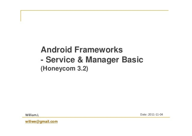 Android Services and Managers Basic
