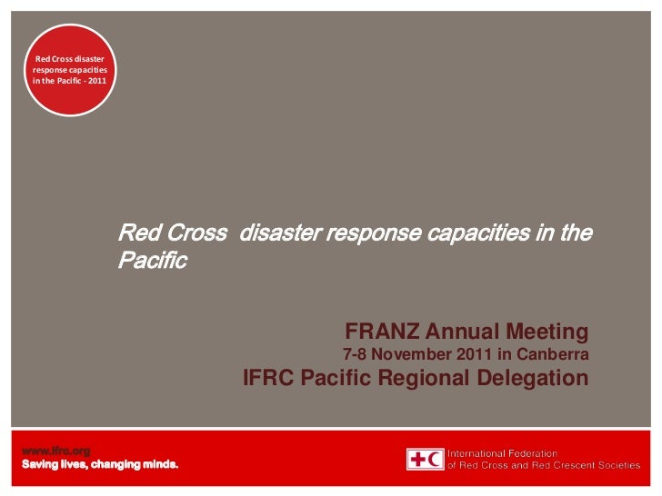 Red Cross disaster  response capacities  in the Pacific - 2011                          Red Cross disaster response capaci...