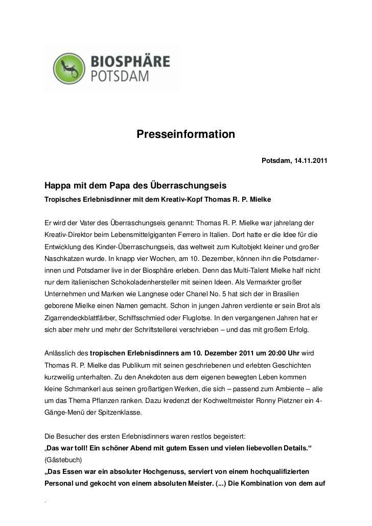 Presseinformation                                                                         Potsdam, 14.11.2011Happa mit dem...