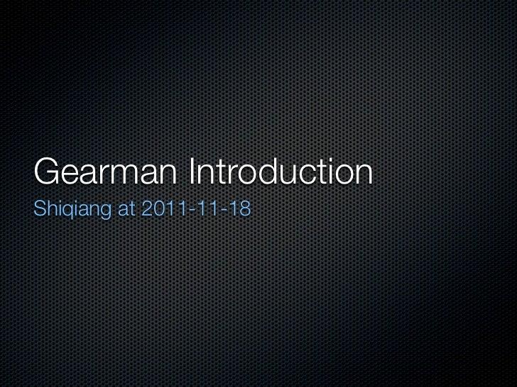 Gearman Introduction