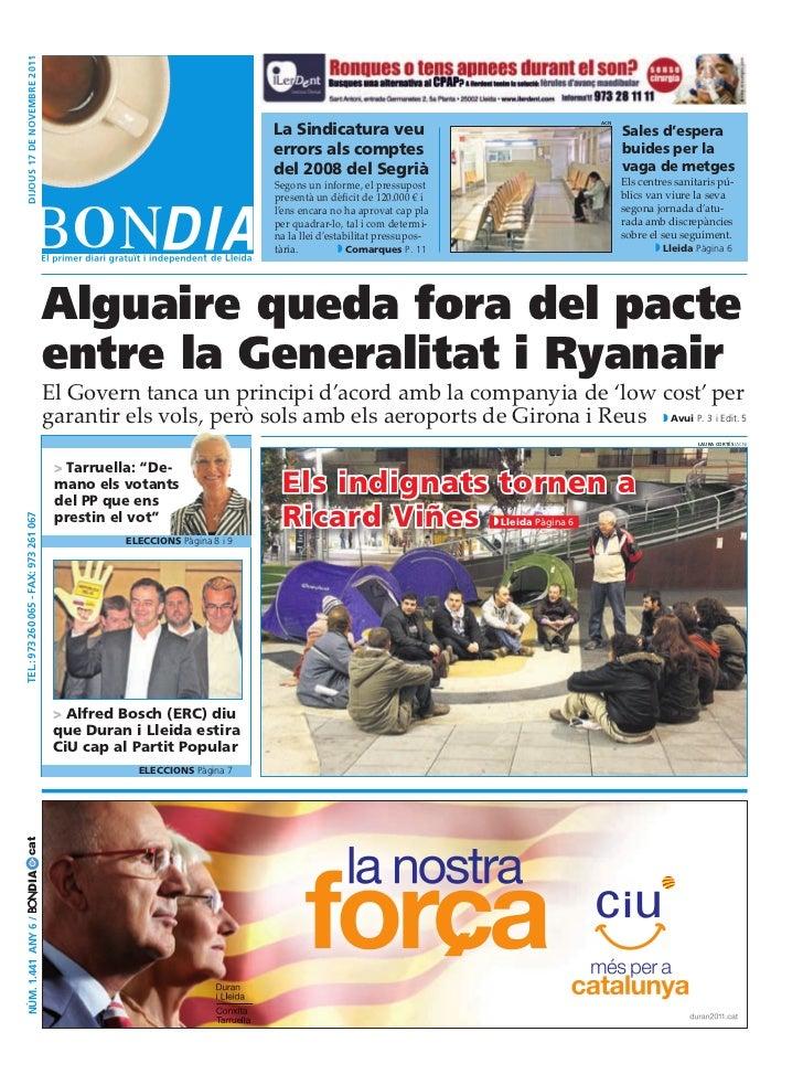 dijous 17 dE novEmbrE 2011                                                                                          La sin...
