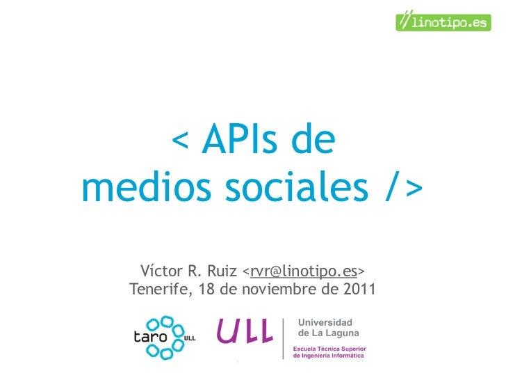 APIs de medios sociales