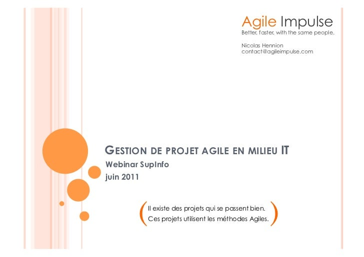 Agile Impulse                                             Better, faster, with the same people.                           ...