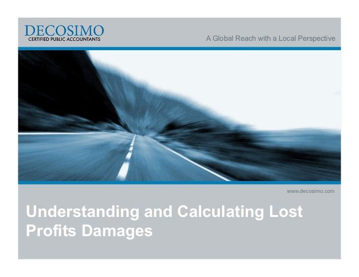 A Global Reach with a Local Perspective                                              www.decosimo.comUnderstanding and Cal...