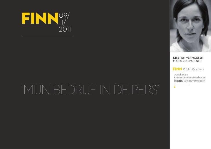 Webinar: Mijn bedrijf in de pers - 09.11.2011
