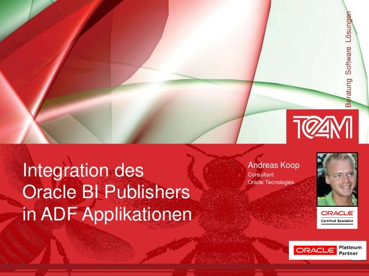 Beratung Software Lösungen                       Andreas KoopIntegration des        Consultant                       Oracl...