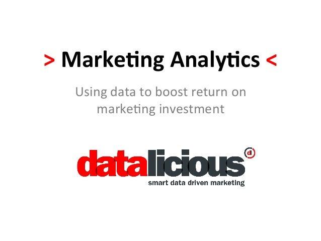 ANZ Marketing Analytics Session 2