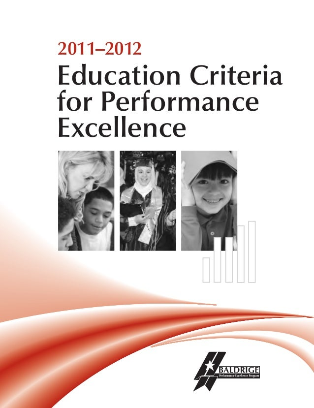 2011-2012 Performance Excellence for Education Criteria