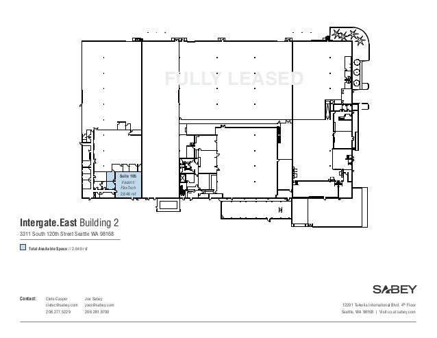Sabey Data Centers Intergate.East Building Two Floorplan