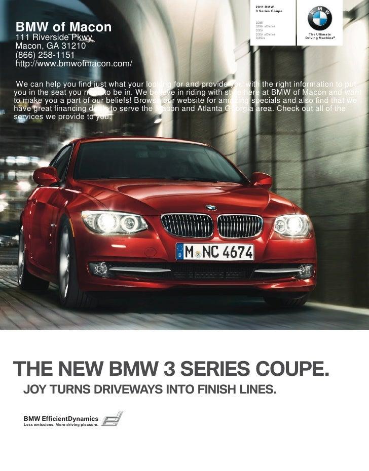 2011 BMW of Macon 3 Series Coupe Macon GA