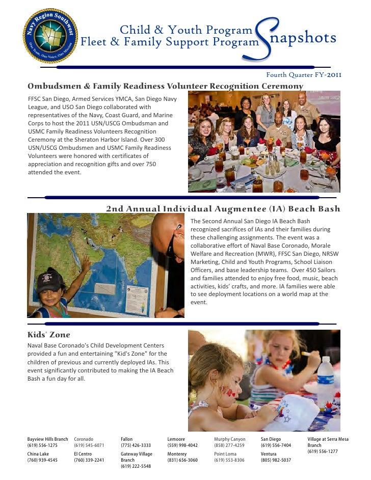 Child & Youth Program                         Fleet & Family Support Program                                              ...
