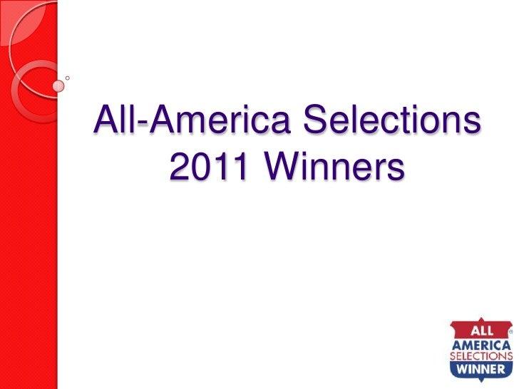 2011 AAS Winners