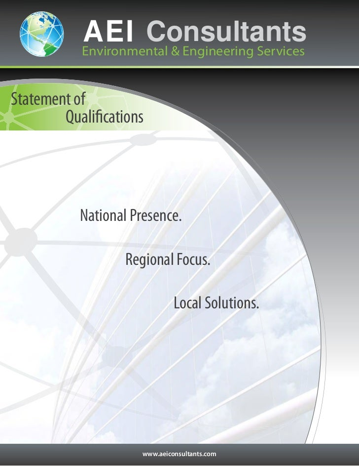 AEI Consultants           Environmental & Engineering ServicesStatement of        Qualifications           National Presen...
