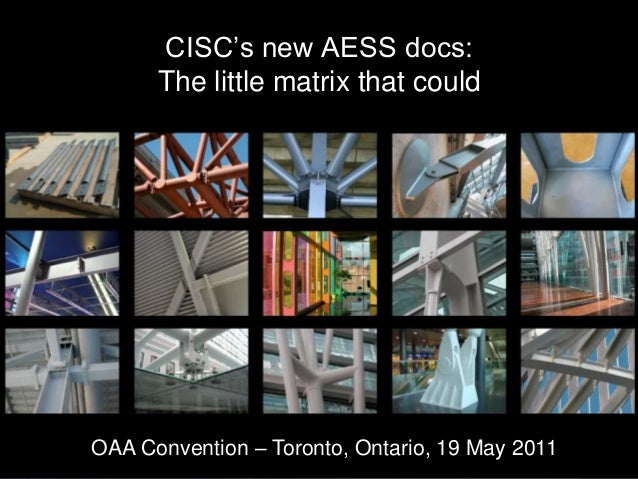CISC Architecturally Exposed Structural Steel