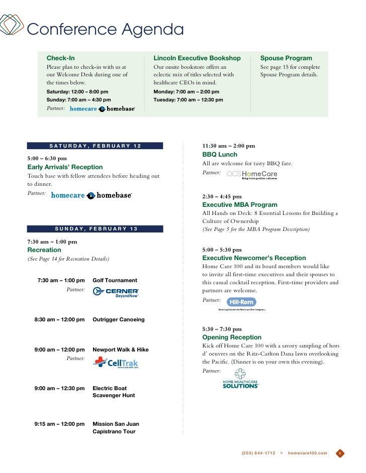 Conference Agenda        check-in                                    lincoln executive Bookshop                    Spouse ...