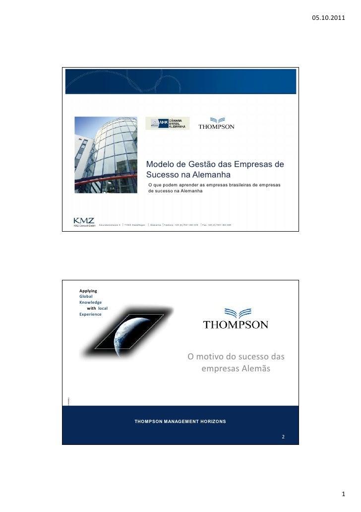 AHK Sao Paulo Modelo de gestão das empresas de sucesso na Alemanha