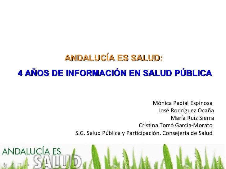 4 años de Andalucía es Salud