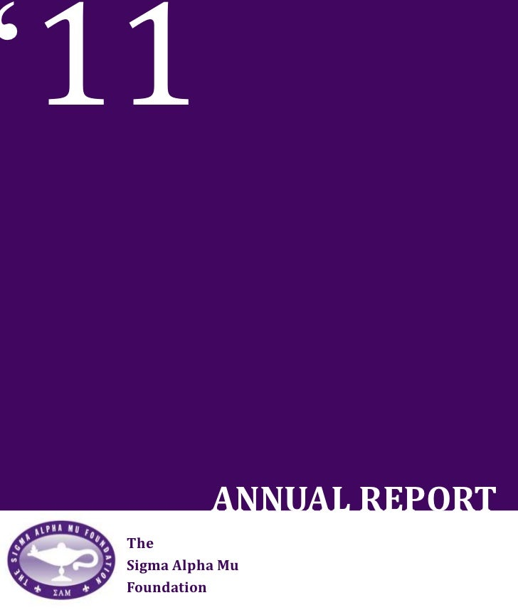 2011 SAM Foundation Annual Report