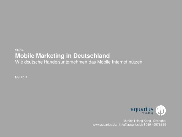 © 2011-2013 aquarius consulting, München & Hong Kong & Shanghai 1© 2011-2013 aquarius consulting, München + Hong Kong + Sh...