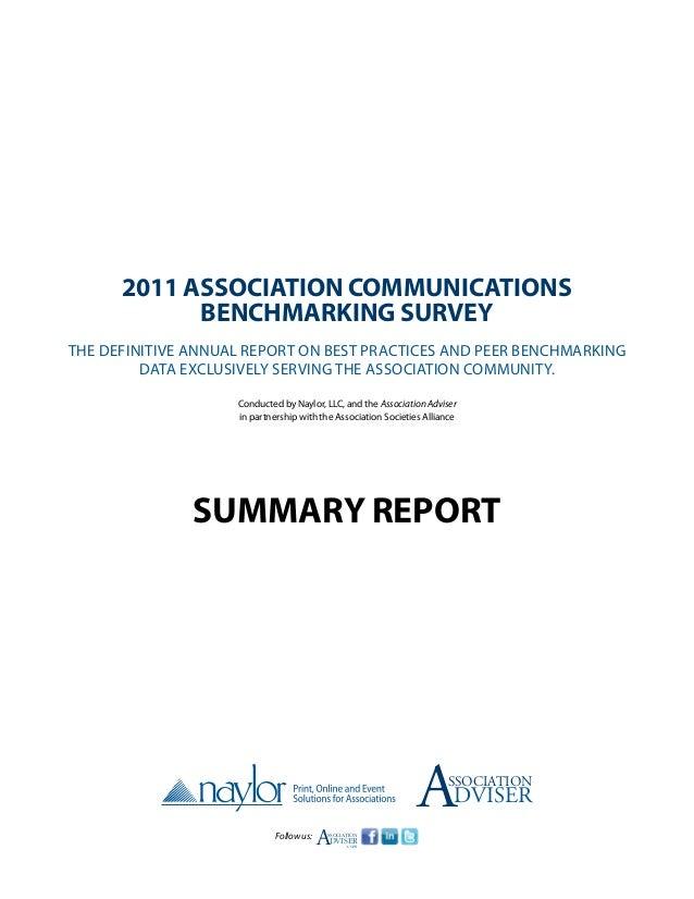 2011 associationcommunicationsbenchmarkingreport