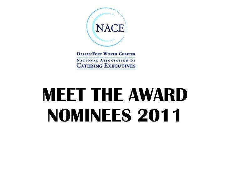 NACE 2011 award nominees