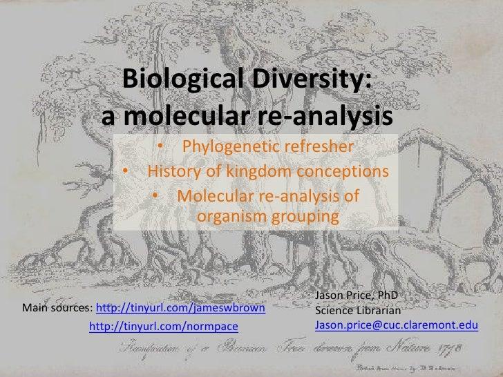 Biological Diversity: a molecular re-analysis