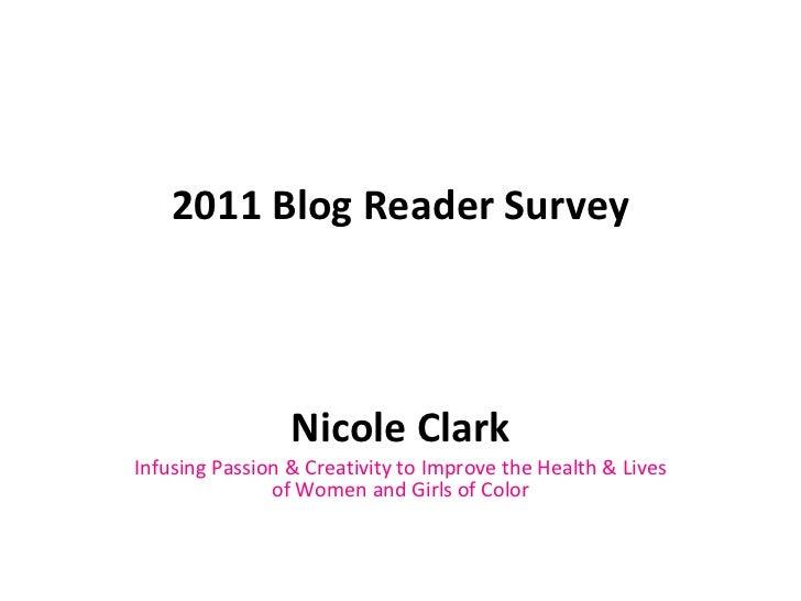 2011 Blog Reader Survey Results