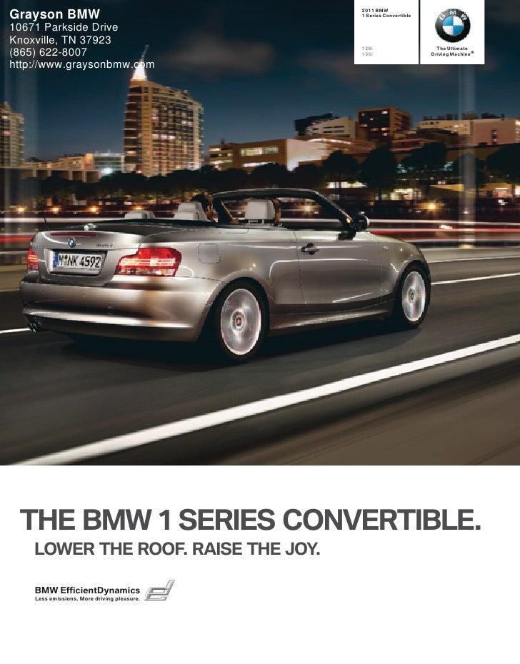 2011 BMW 1 Series Convertible - Grayson BMW Knoxville, TN