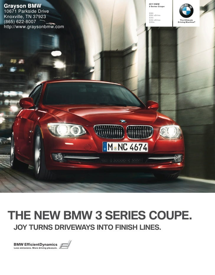 2011 BMW 3 Series Coupe - Grayson BMW Knoxville, TN
