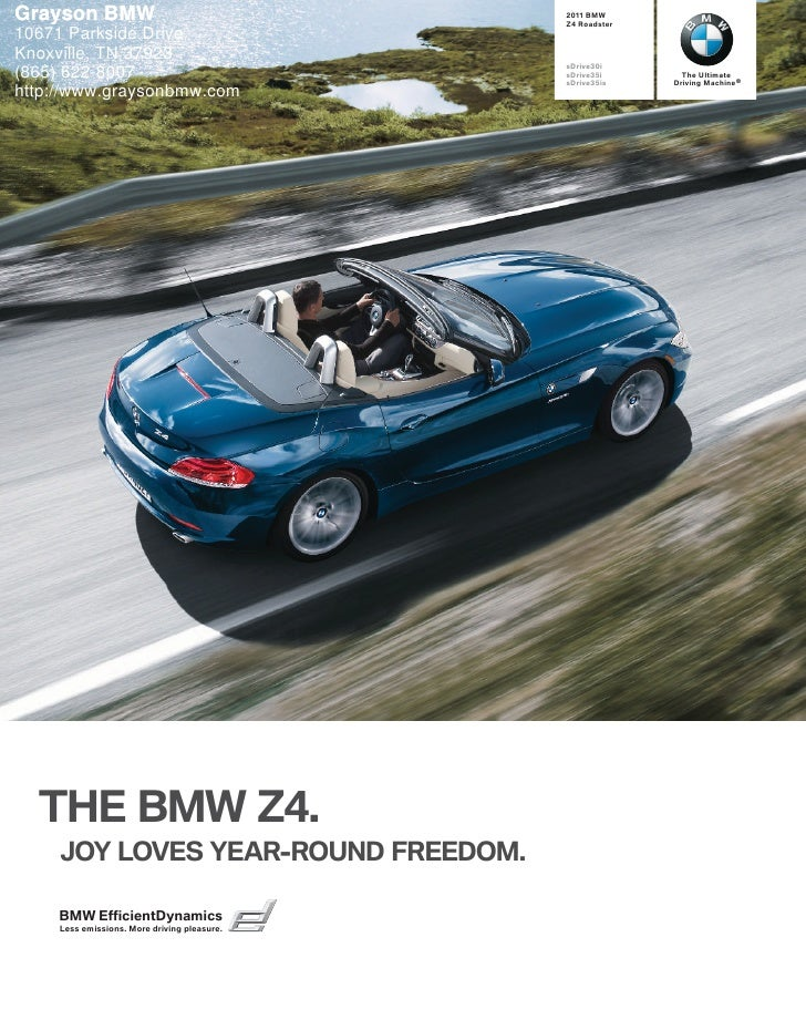2011 BMW Z4 - Grayson BMW Knoxville, TN